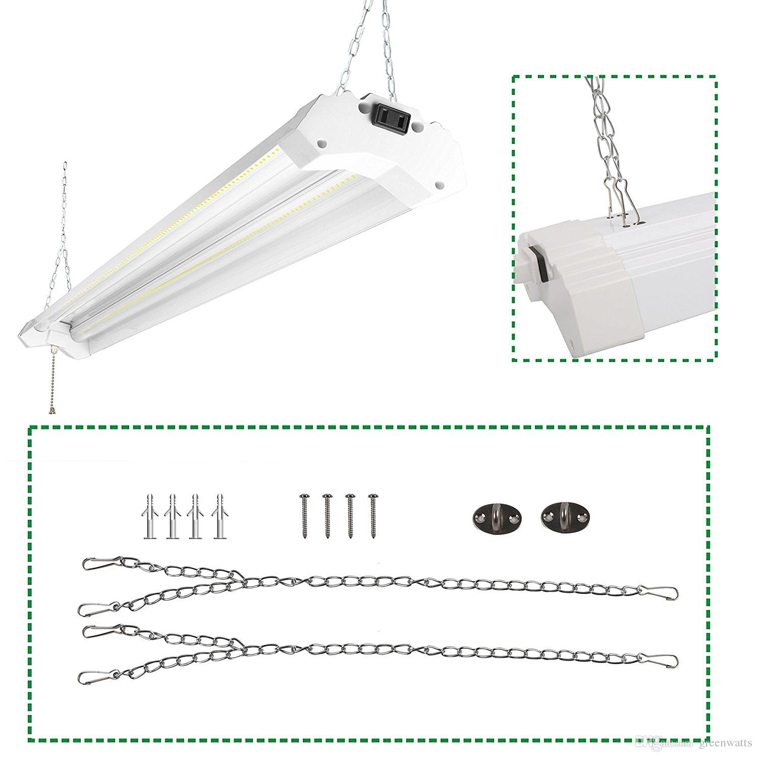 hight resolution of 2019 linkable led utility shop light 4ft 4800 lumens super bright 40w 5000k daylight etl certified led garage lights fixture durable led fixture from