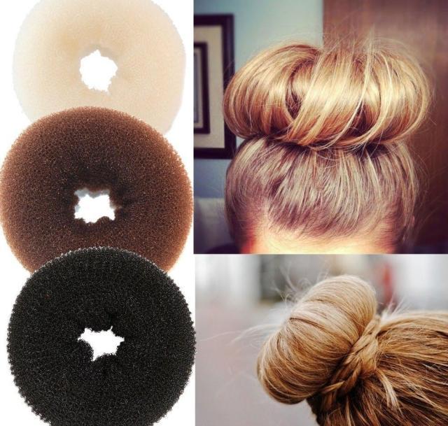 2017 1pc plate hair donut bun maker magic foam sponge hair styling tools princess hairstyle accessories elastic bands