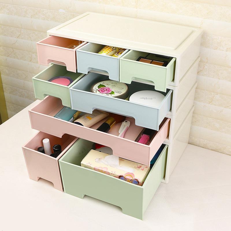 acheter combinable diy tiroir de bureau organisateur boite de rangement de bureau cosmetique de stockage organisateur maquillage papeterie bijoux cas de