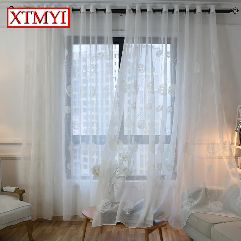 white curtains for living room crystal lights 2019 korean embroidered voile bedroom window curtain sheer blinds custom made from merlle 35 08 dhgate com