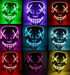 led lights mask up funny mask led strip flexible neon sign light glow el wire rope neon light halloween face controller christmas lights flexible led strips  [ 1000 x 1000 Pixel ]