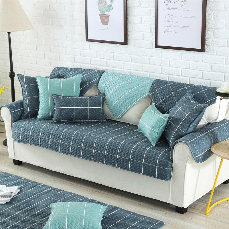 Nordic Style Magical Sofa Cover Corner Fabric Double Towel