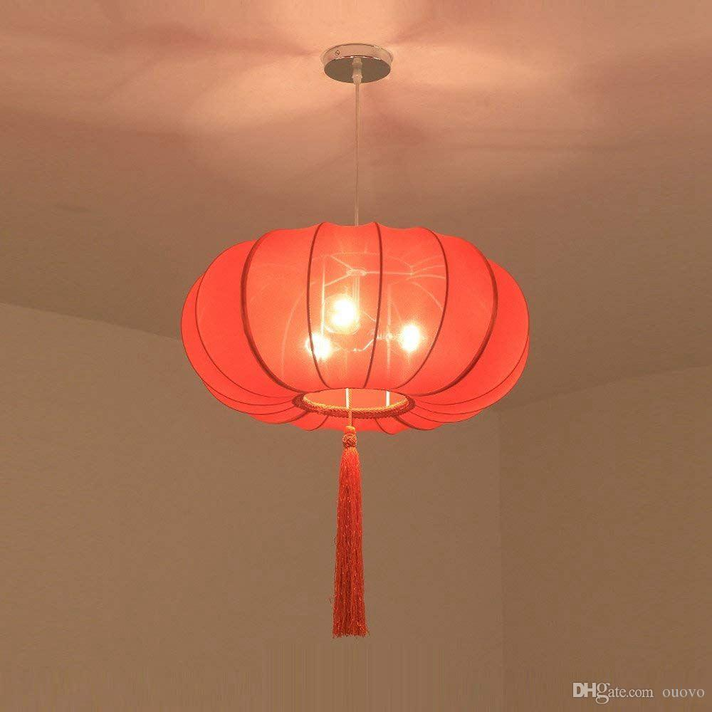 chinese hand solid red