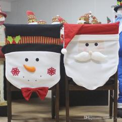 Chair Covers New Year Patio Cushions Walmart Christmas Decoration Dining Seat Santa Claus Snowman Cover For Home Party Decor Discount Decorations Outdoor