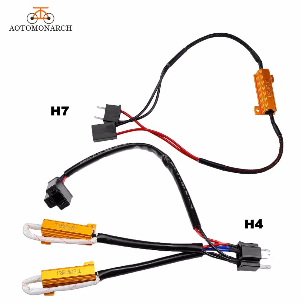 hight resolution of 2019 aotomonarch h7 led decoder car lights bulbs resistor for h4 h8 h9 h11 9005 9006 canbus wire harness adapter 50w 8ohm 9 14v cj from nqingfeng