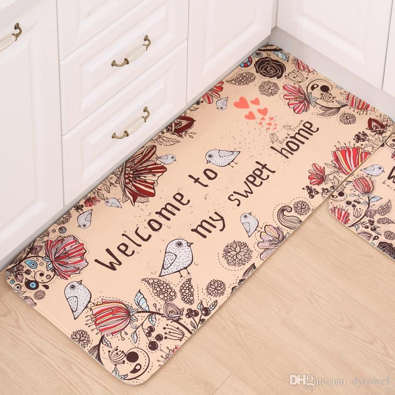 kitchen carpets colors for kitchens kawaii welcome floor mats animal cat dog printed bathroom rugs doormats living room anti slip tapete bath mat tapis less