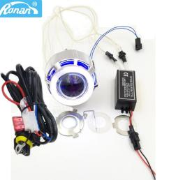 2019 ronan 2 0inch motorcycle bi xenon hid projector lens with double ccfl angel eyes wire for h4 h7 headlight retrofit use xenon h1 from knite07  [ 900 x 900 Pixel ]