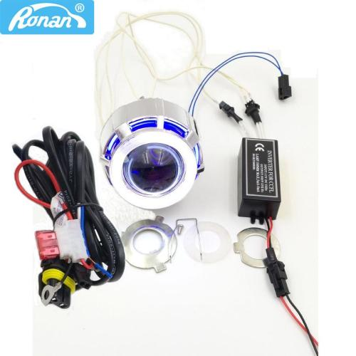 small resolution of 2019 ronan 2 0inch motorcycle bi xenon hid projector lens with double ccfl angel eyes wire for h4 h7 headlight retrofit use xenon h1 from knite07