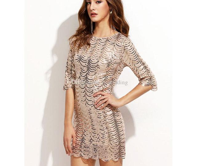 Hot Sexy Clubwear Party Normal Mature Women Sequins Dress From Heatrading   Dhgate Com