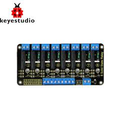 keyestudio 5v 2a 8 channel solid state relay module high level trigger black for arduino uno mega2560 mega1280 arm dsp pic automated home system home  [ 1000 x 1000 Pixel ]