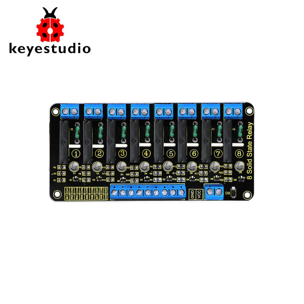hight resolution of keyestudio 5v 2a 8 channel solid state relay module high level trigger black for arduino uno mega2560 mega1280 arm dsp pic automated home system home