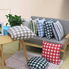 Replacement Living Room Chair Cushions Decorating Styles Brief Striped Plaid Home Seat Back Pad Student Adult Study Office Sofa Car Cushion Lumbar Pillow Washable Outdoor Furniture