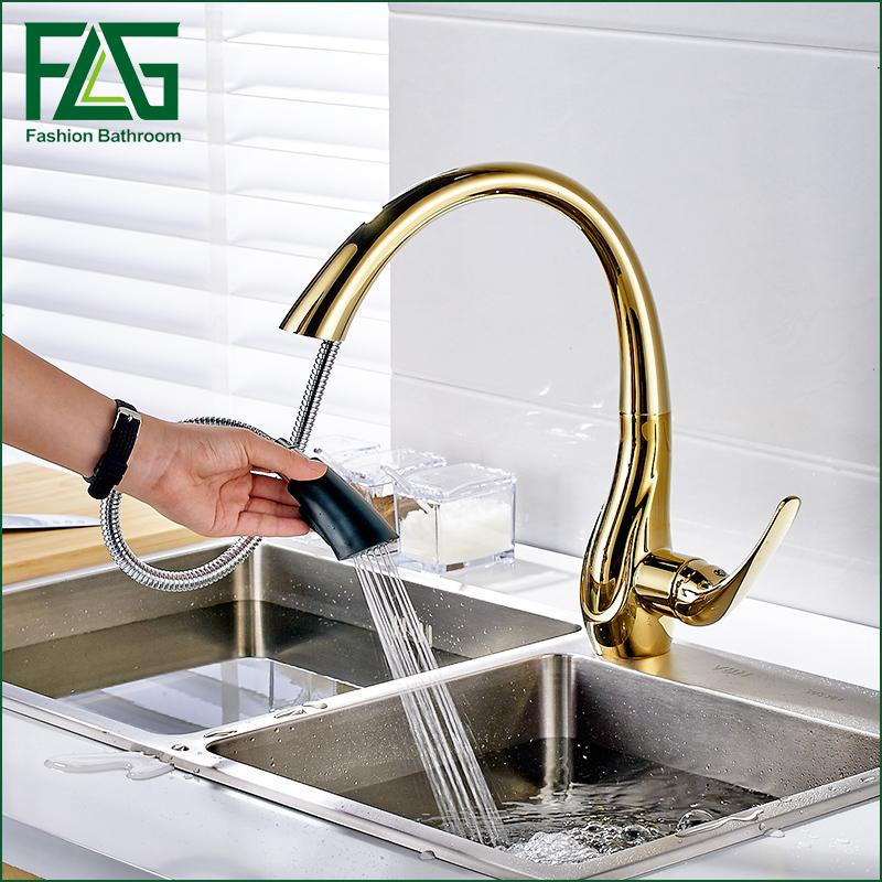 gold kitchen faucet bar island 2019 pull out faucets hot and cold vegetables basin rotating taps all copper sink mixer from shuishu 156 36 dhgate com