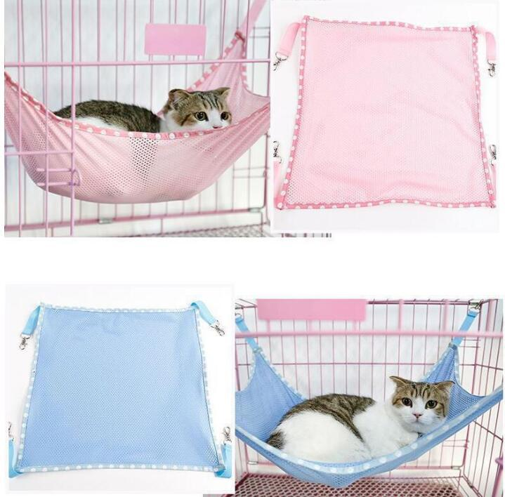 cat hammock under chair exercise upper body 2019 pet kitten hanging bed cage sleeping resting mesh hammocks 53 38cm playing carrier mats 350pcs