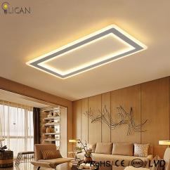 Led Ceiling Light Living Room Images Of Grey Painted Rooms 2019 Lican Modern Lights Bedroom Abajur Luminarias Lustre De Plafond 110v 220v Rectangle Lamp Dimming From Grege