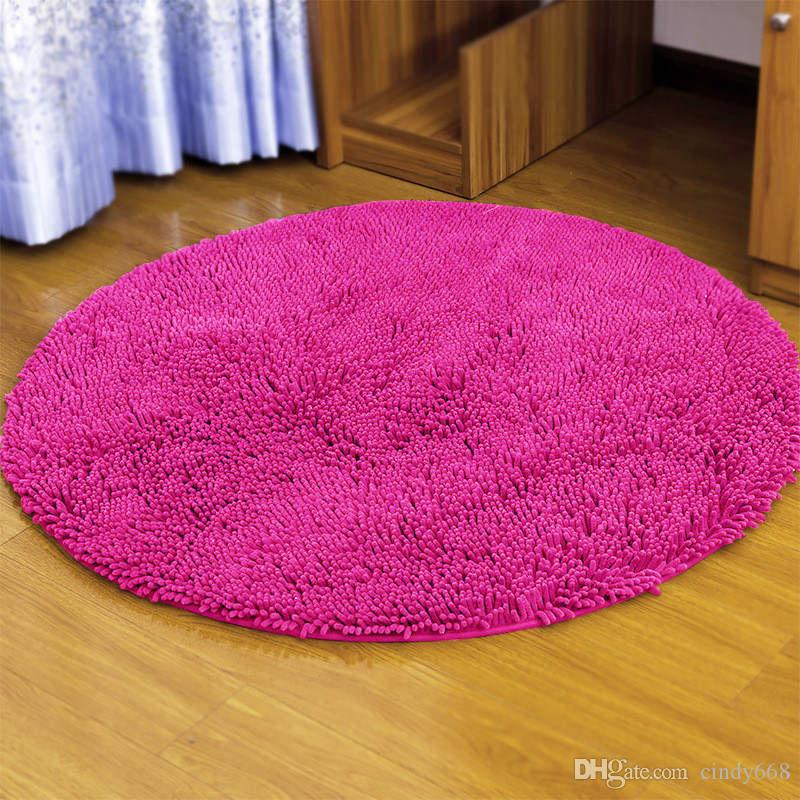 swivel chair on carpet modern armchairs south africa 2019 computer cushion bedroom floor mat microfiber circular living room study doormat super soft solid rugs from