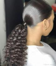 style human hair kinky ponytails