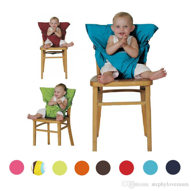 portable high chair baby 8 dining set sack seats shoulder strap infant safety seat belt toddler feeding cover harness chairs