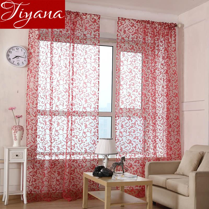 simple living room curtains sitting chairs geometric window screen yarn panel voile modern bedroom balcony kitchen tulle t 173 20