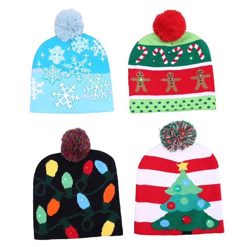 6e429d3d87bd6 2019 LED Christmas Hat Ugly Xmas Sweater Christmas Tree Beanie Light - Light  Up Christmas Hat