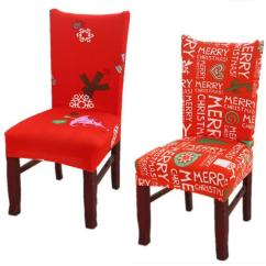 Christmas Chair Covers White Dutch Design Youtube Home Dining Multifunctional Antifouling Cover Removable Elastic Xmas Slipcovers Seat Mma1052
