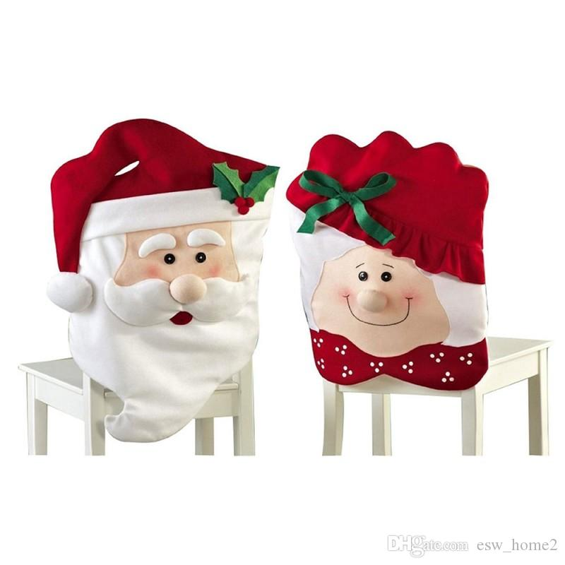 chair covers new year bungie office happy home decoration dining christmas seat santa claus grandma cover for rent and sashes