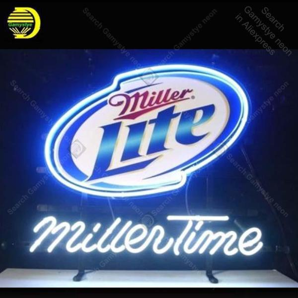 2019 Neon Sign Miller Lite Time Bulb