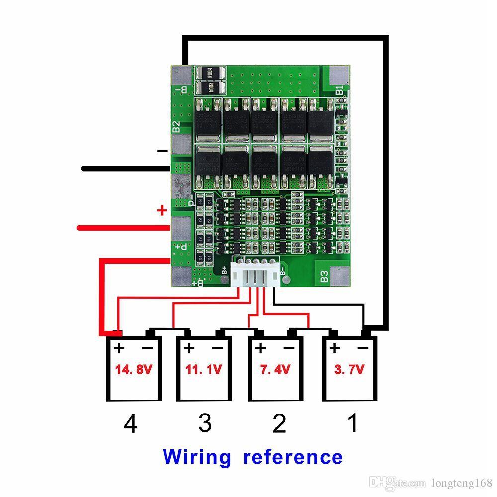medium resolution of 4s 30a 14 8v li ion lithium 18650 battery jpg
