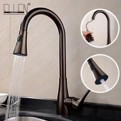Oil Rubbed Bronze Kitchen Sink Vanity 2019 Faucet Taps Pull Out Sprayer Water Mixers From Hibooth 143 52 Dhgate Com