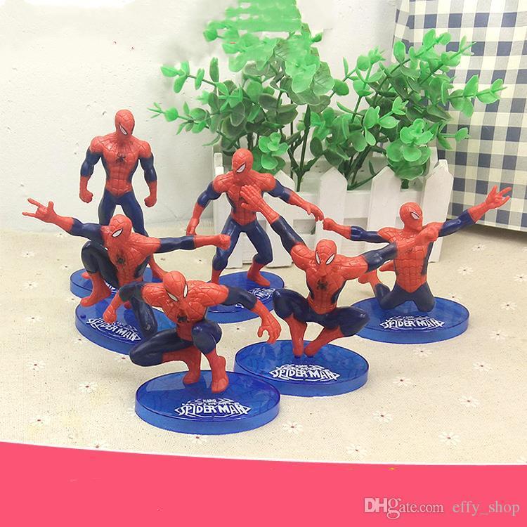 2019 Cartoon Spiderman Cake Boy Party Cupcake Toppers Picks Kids