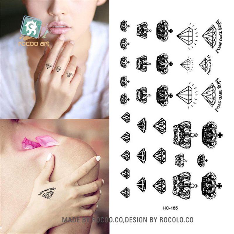 Body Art Tatuajes Temporales A Prueba De Agua Para Hombres Y Mujeres Sex Simple 3d Diseño De La Corona Pequeña Etiqueta Engomada Del Tatuaje Al Por