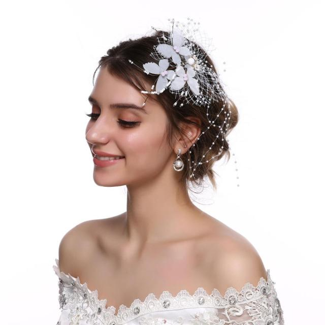 new fashion wedding women hairpins for hair romantic white mesh butterfly bride hair clips elegant accessories jewelry