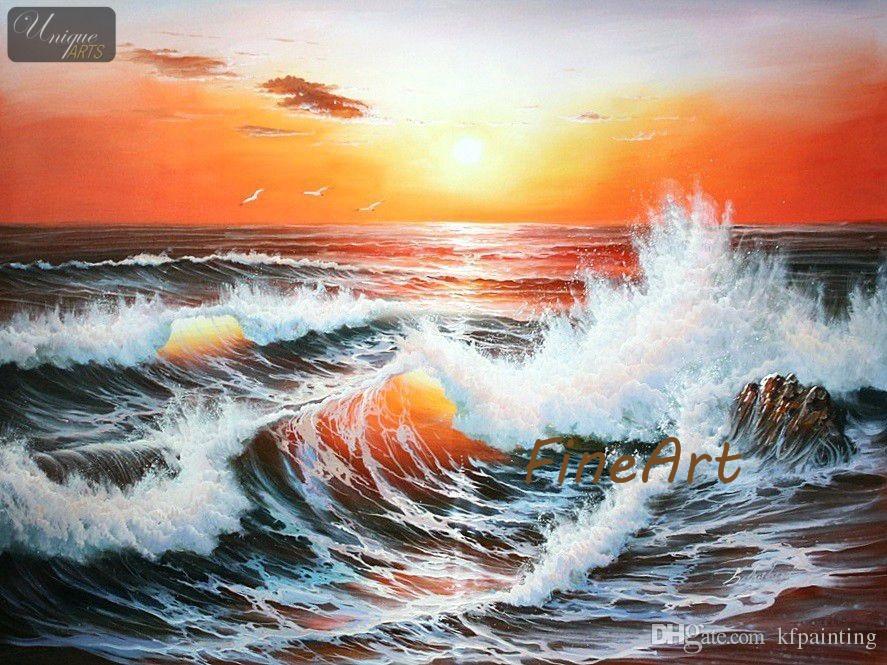 100 handmade ocean wave