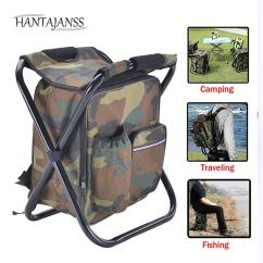 Fishing Chair Rucksack Toy Story Table And Chairs Hantajanss Multi Function Backpack With Camouflage Folding Waterproof Insulation Bags For Traveling Bag Park Rest Boys