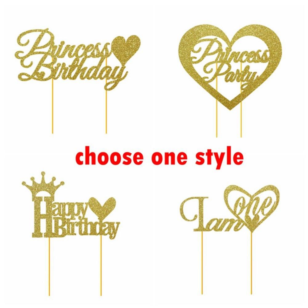 1pc happy birthday gold