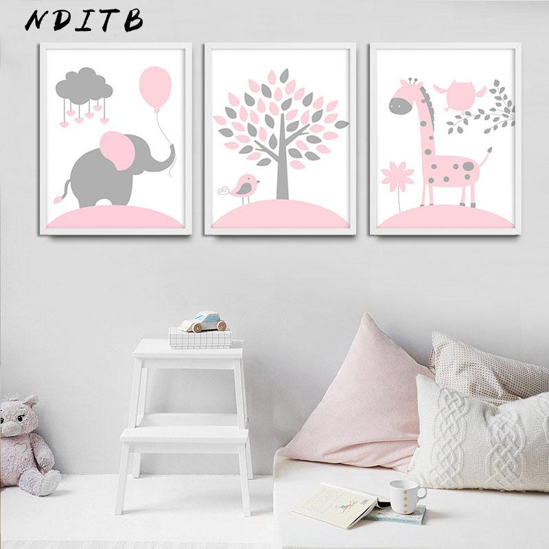 baby nursery girl wall