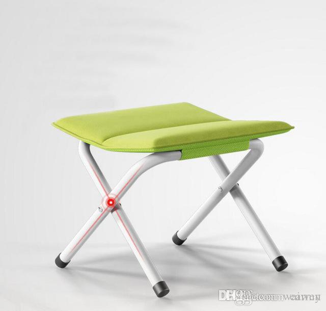 fishing chair with arms revolving for study table wholesale fashion portable folding stool home outdoor thick canvas se27 covers chairs