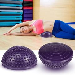 Fitball Balance Ball Chair Dining Feet Protectors Yoga Half Stepping Stone For Body Building Massage Health Care Stones Exercise Workout Home Gym Vb Best