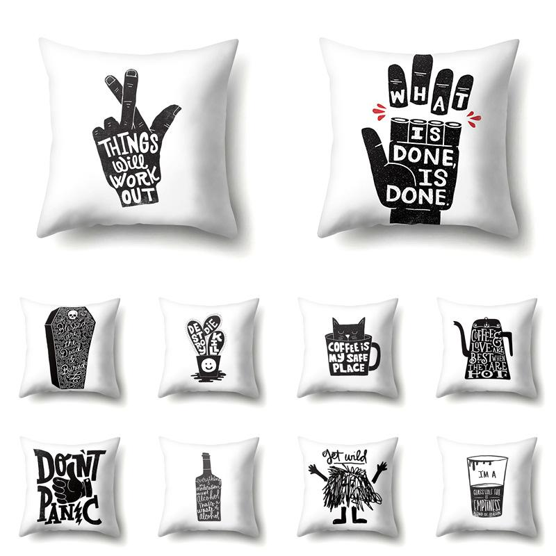 ebay large chair covers white plastic lounge chairs hot home sofa pillow fingers letters peach velvet pillowcase cover cushion outside cushions outdoor from