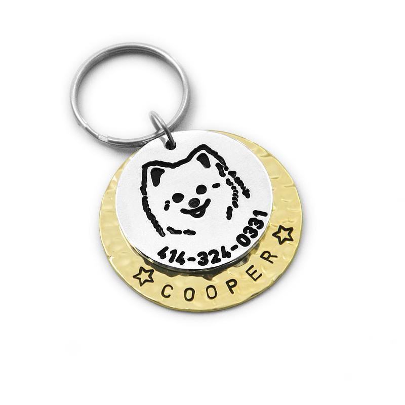 custom pomeranian dog tag