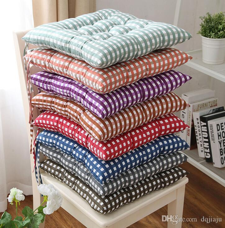 wholesale chair cushions best outdoor rocking chairs dining cushion plaid printing comfortable breathable office seat car 40 40cm patio covers spotlight