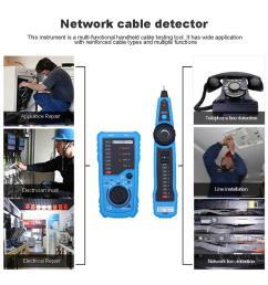 rj11 rj45 crimper cat5 cat6 lan tester lan network cable tester telephone wire tracker toner ethernet detector line finder network scanner tool network  [ 1000 x 1000 Pixel ]