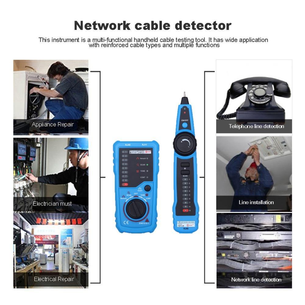 hight resolution of rj11 rj45 crimper cat5 cat6 lan tester lan network cable tester telephone wire tracker toner ethernet detector line finder network scanner tool network
