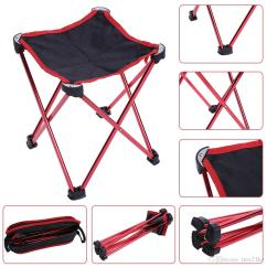 Fishing Chair Carry Bags Small Portable 2019 Aluminum Alloy Folding Seat Stool Picnic Camping 1pcs Hiking Bbq Beach Backpack Chairs With Bag