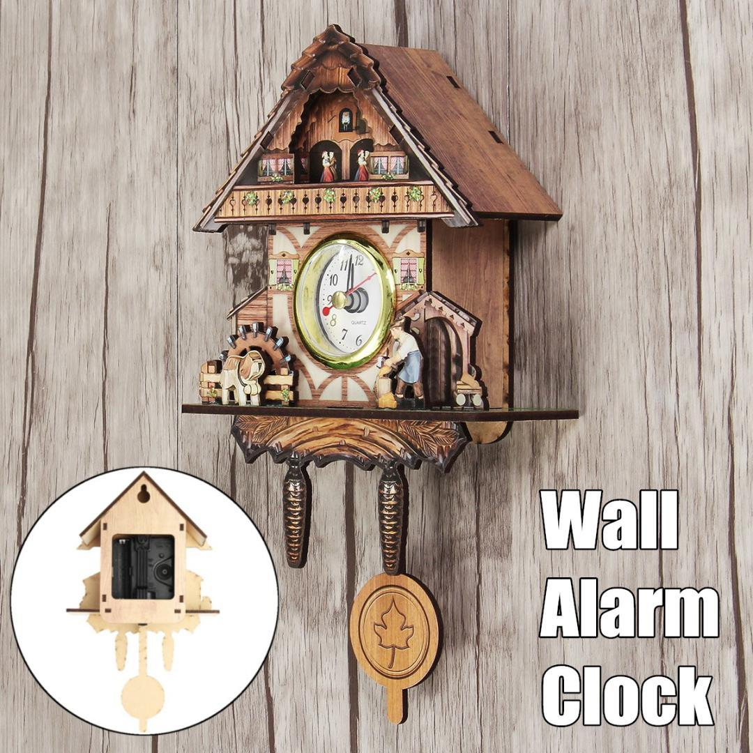 living room wall clocks leather couches for cuckoo clock bird alarm watch modern brief children decorations home day time only wooden sale