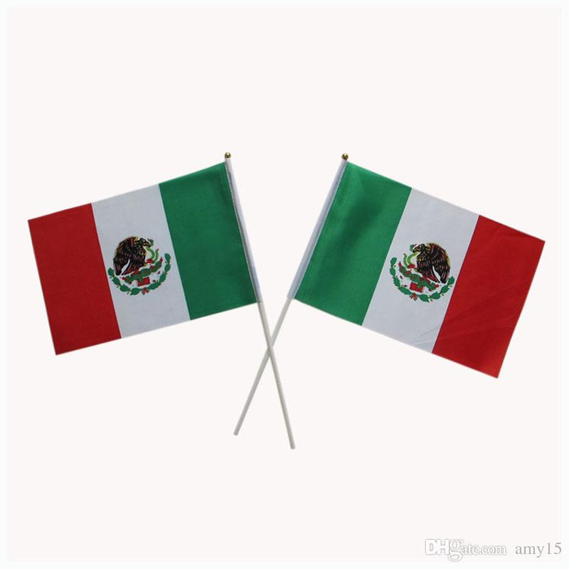 2021 14*21 Cm Mexico Flag Banner.Country Flag.5*8 Inches Hand Waving Flag From Amy15. $27.14 | DHgate.Com