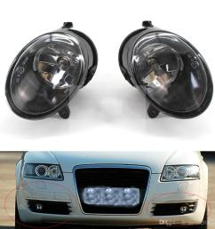 for audi a6 c6 2005 2006 2007 2008 auto fog light lamp car front bumper grille driving lamps fog lights set kit 4f0 941 699 car fog lamps online india car  [ 1000 x 1000 Pixel ]