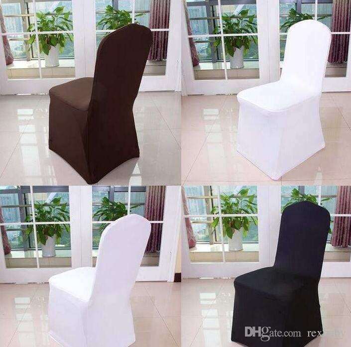 large chair covers leather office chairs cheap wolesale hotel cover wedding pure color with thick white elastic high end banquet slipcover rental