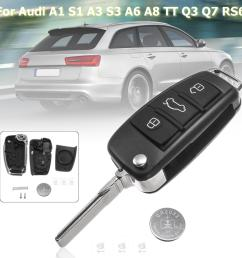 with 3 switches 1 battery 3 buttons remote key fob case shell for audi a3 a4 a6 a8 q7 tt 1997 2018 2017 2016 2015 2010 keys in car keys in the car from  [ 1200 x 1200 Pixel ]
