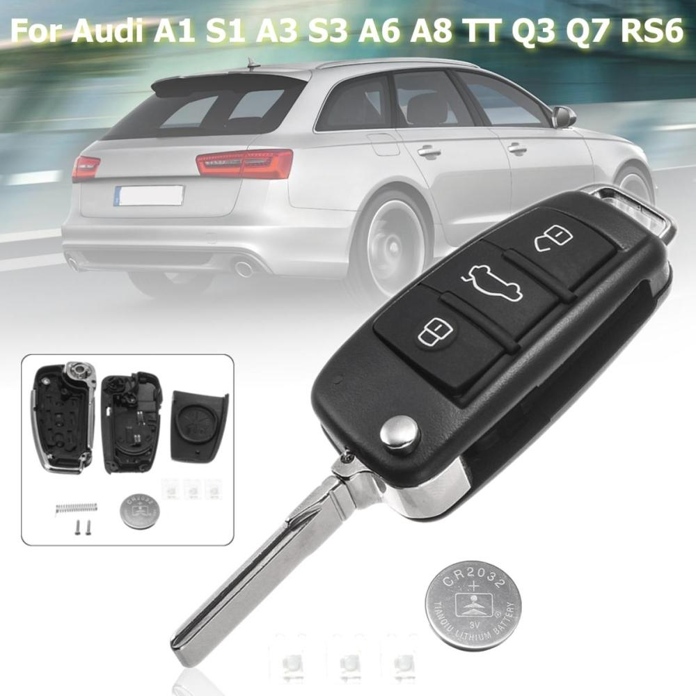 medium resolution of with 3 switches 1 battery 3 buttons remote key fob case shell for audi a3 a4 a6 a8 q7 tt 1997 2018 2017 2016 2015 2010 keys in car keys in the car from